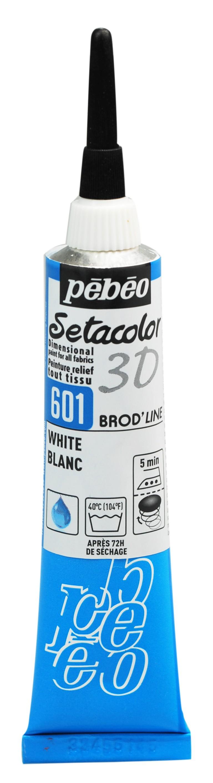 peinture tissus sétacolor brod'line pébéo 3D 20 ml