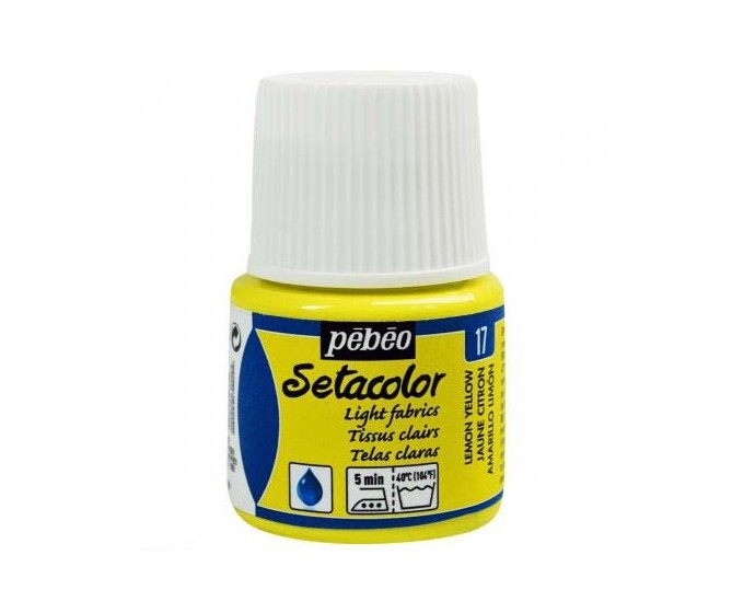 peinture tissus sétacolor tissus clairs pébéo 45 ml