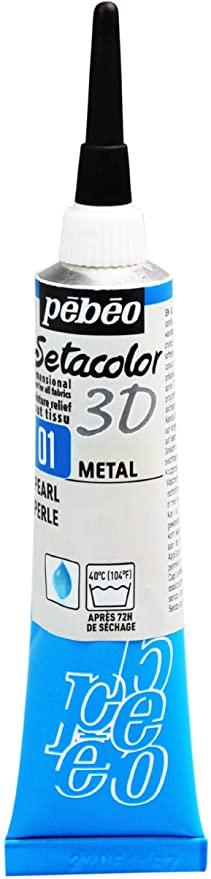 peinture tissus sétacolor métal pébéo 3D 20 ml