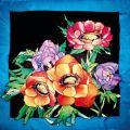 Anemones carré 90x90 cm pongée N°9