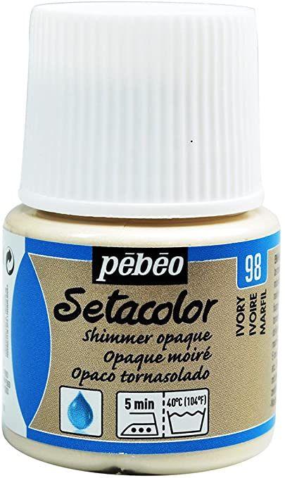 peinture tissus sétacolor opaque moiré pébéo 45 ml