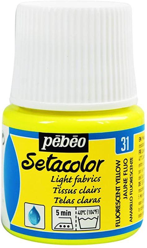 peinture tissus sétacolor fluo tissus clairs pébéo 45 ml