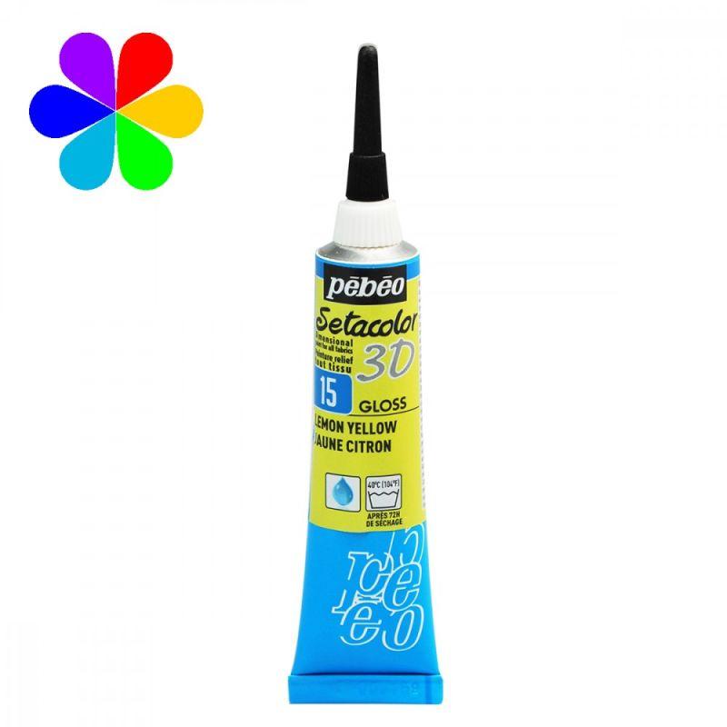 peinture tissus sétacolor brillant pébéo 3D 20 ml