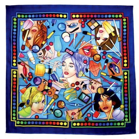 Make up carré 90x90 cm pongée N°9