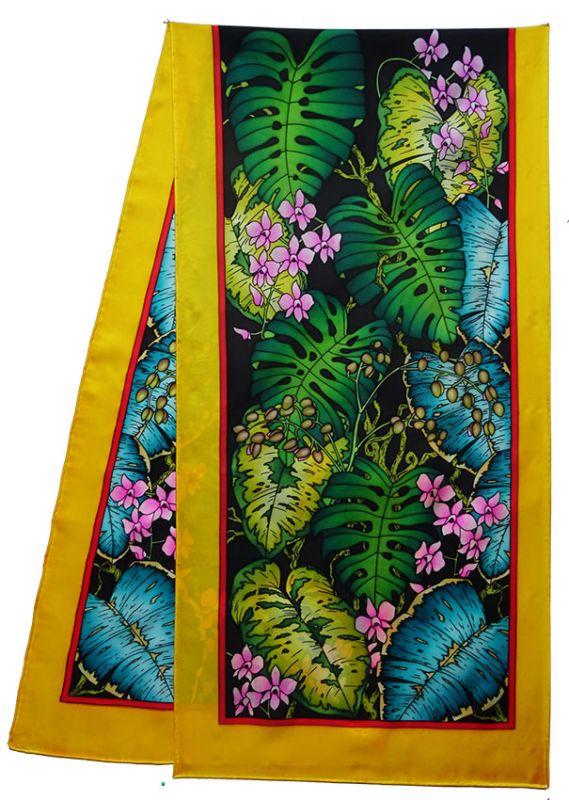 Katleaya pashmina 180 x 43 cm pongée N°9