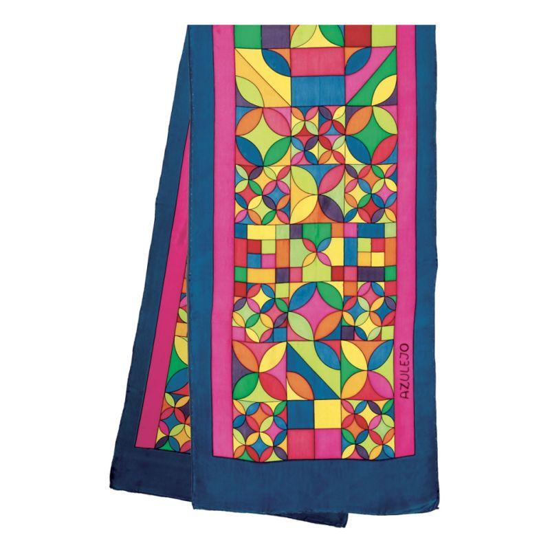 Azulejo pashmina 180 x 43 cm pongée N°9