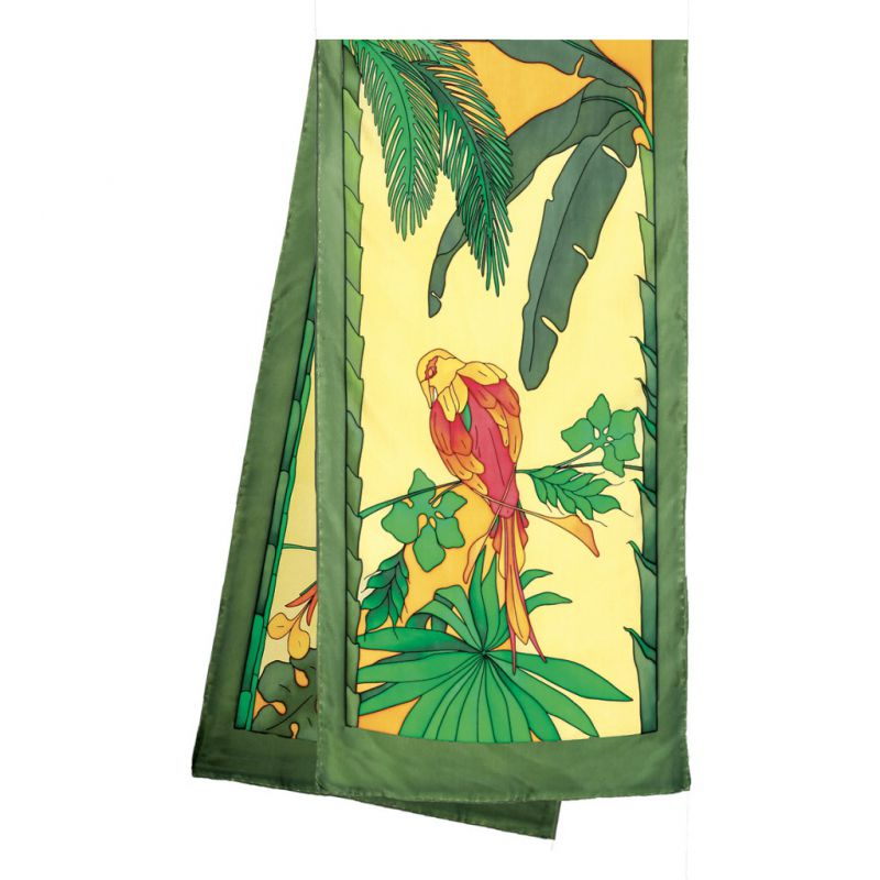 Jungle pashmina 180 x 43 cm pongée N°9