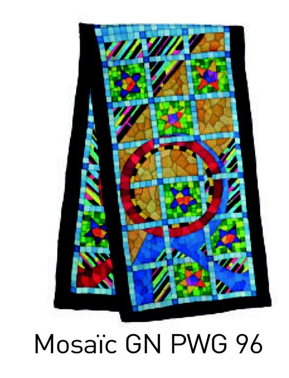 Mosaïc écharpe 145x43 cm pongée N°9