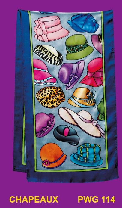 Chapeaux écharpe 145x43 cm pongée N°9