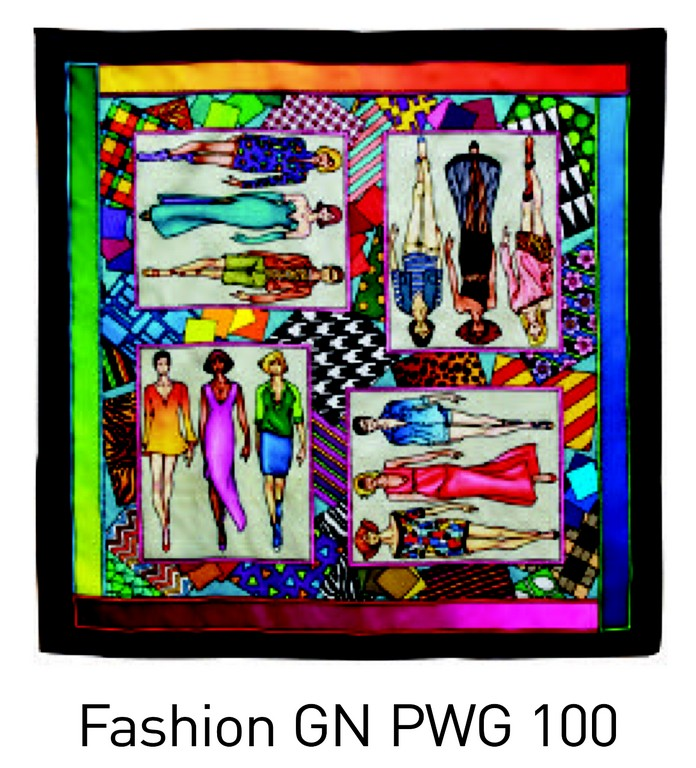 Fashion carré 90x90 cm pongée N°9