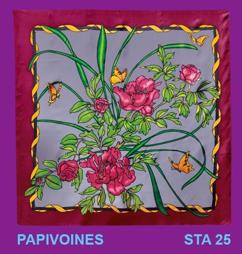 Papivoine carré 90x90 cm pongée N°9
