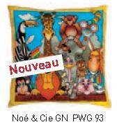 Noé & cie coussin 40x40 cm pongée N°10