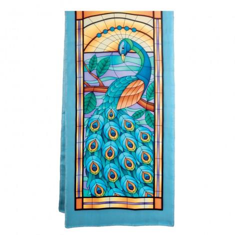 Peacock pashmina 180 x 43 cm pongée N°9
