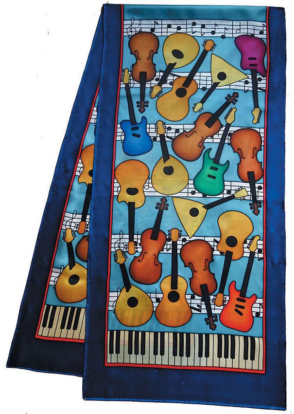 Music pashmina 180 x 43 cm pongée N°9